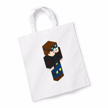 Picture of Dantdm Dan The Diamond Minecart Player Skin 3D Standing Right Pose Reusable Bag For Life