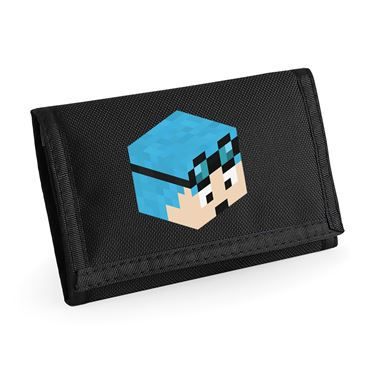 Picture of Dantdm Dan The Diamond Minecart Blue Hair Player Skin 3D Head Right Pose Ripper Wallet