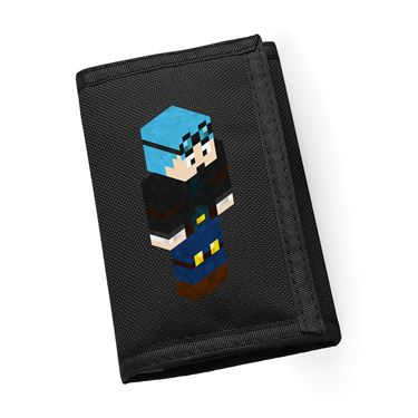 Picture of Dantdm Dan The Diamond Minecart Blue Hair Player Skin 3D Standing Right Pose Ripper Wallet