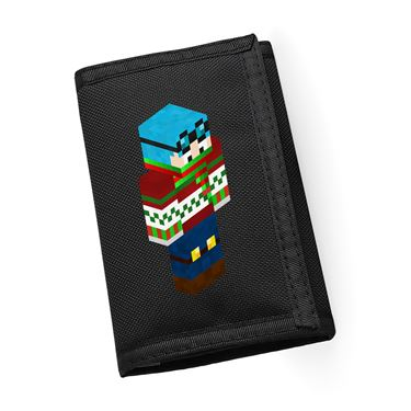 Picture of Dantdm Dan The Diamond Minecart Christmas Player Skin 3D Standing Right Pose Ripper Wallet