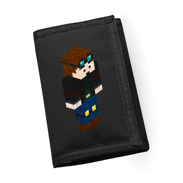 Picture of Dantdm Dan The Diamond Minecart Player Skin 3D Standing Right Pose Ripper Wallet