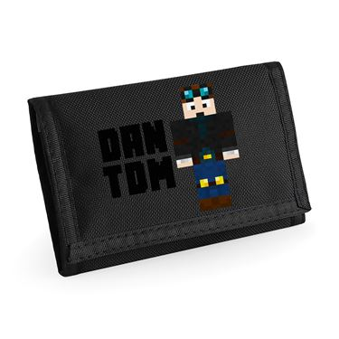 Picture of Dantdm Dan The Diamond Minecart Player Skin Standing Pose And Black Text Ripper Wallet