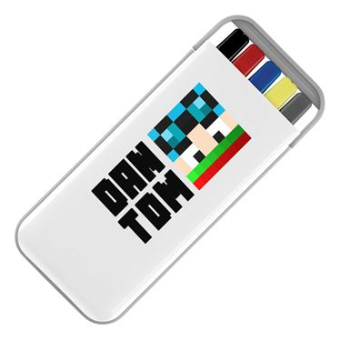 Picture of Dantdm Dan The Diamond Minecart Christmas Player Skin Face And Black Text Stationery Set