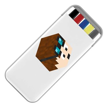 Picture of Dantdm Dan The Diamond Minecart Player Skin 3D Head Right Pose Stationery Set