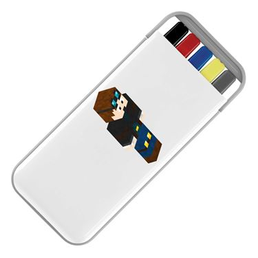 Picture of Dantdm Dan The Diamond Minecart Player Skin 3D Standing Right Pose Stationery Set