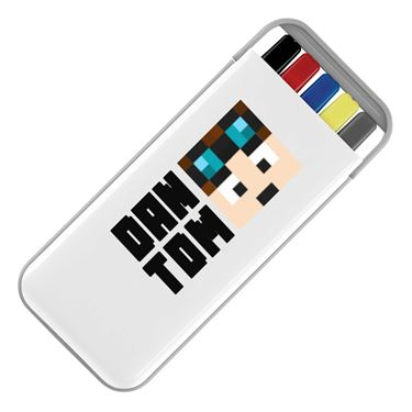 Picture of Dantdm Dan The Diamond Minecart Player Skin Face And Black Text Stationery Set