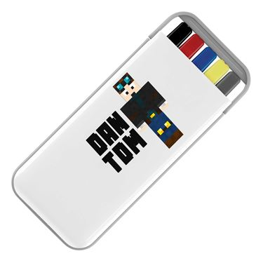 Picture of Dantdm Dan The Diamond Minecart Player Skin Standing Pose And Black Text Stationery Set
