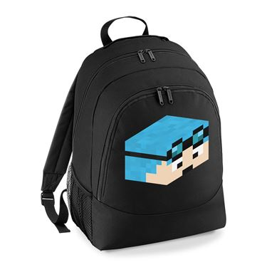Picture of Dantdm Dan The Diamond Minecart Blue Hair Player Skin 3D Head Right Pose Universal Backpack