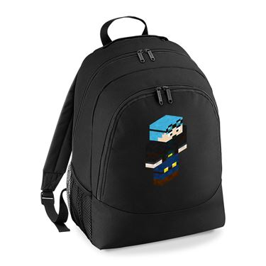 Picture of Dantdm Dan The Diamond Minecart Blue Hair Player Skin 3D Standing Right Pose Universal Backpack