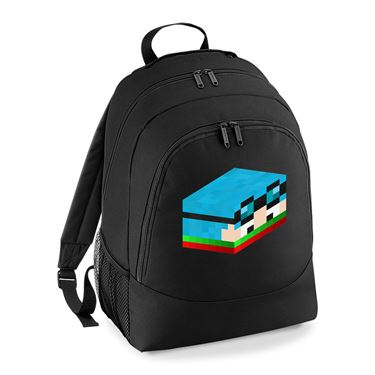 Picture of Dantdm Dan The Diamond Minecart Christmas Player Skin 3D Head Right Pose Universal Backpack