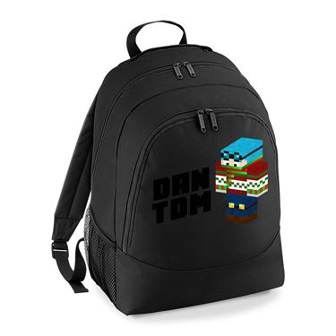 Picture of Dantdm Dan The Diamond Minecart Christmas Player Skin 3D Standing Left Pose And Black Text Universal Backpack