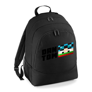 Picture of Dantdm Dan The Diamond Minecart Christmas Player Skin Face And Black Text Universal Backpack