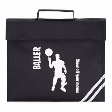 Picture of Baller Show Off Your Moves Emote Shop Item Silhouette Fortnite Battle Royale Book Bag