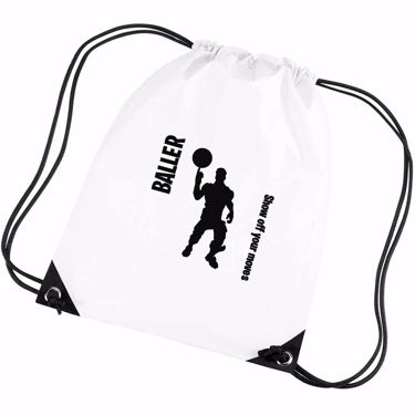 Picture of Baller Show Off Your Moves Emote Shop Item Silhouette Fortnite Battle Royale Gym Bag