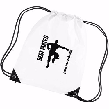 Picture of Best Mates Whos Your Best Mate Emote Shop Item Silhouette Fortnite Battle Royale Gym Bag