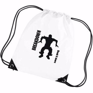 Picture of Breakdown Break It Down Emote Shop Item Silhouette Fortnite Battle Royale Gym Bag