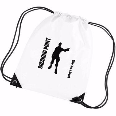 Picture of Breaking Point Give Em A Break Emote Shop Item Silhouette Fortnite Battle Royale Gym Bag
