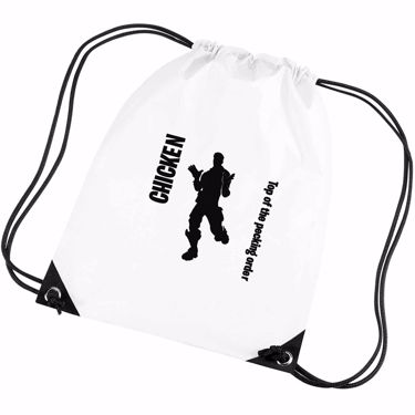 Picture of Chicken Top Of The Pecking Order Emote Shop Item Silhouette Fortnite Battle Royale Gym Bag