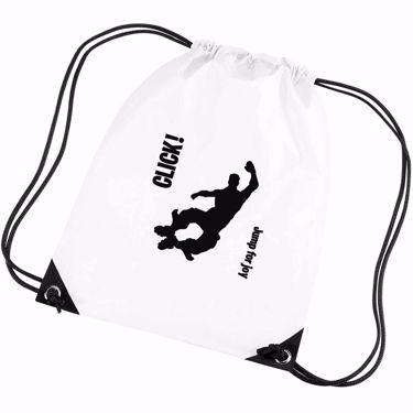 Picture of Click Jump For Joy Emote Shop Item Silhouette Fortnite Battle Royale Gym Bag