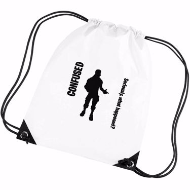 Picture of Confused Seriously What Happened Emote Shop Item Silhouette Fortnite Battle Royale Gym Bag