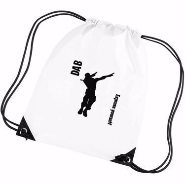 Picture of Dab Express Yourself On The Battlefield Emote Shop Item Silhouette Fortnite Battle Royale Gym Bag