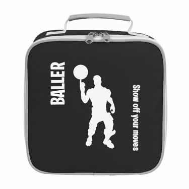 Picture of Baller Show Off Your Moves Emote Shop Item Silhouette Fortnite Battle Royale Lunch Bag