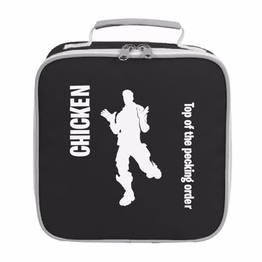 Picture of Chicken Top Of The Pecking Order Emote Shop Item Silhouette Fortnite Battle Royale Lunch Bag