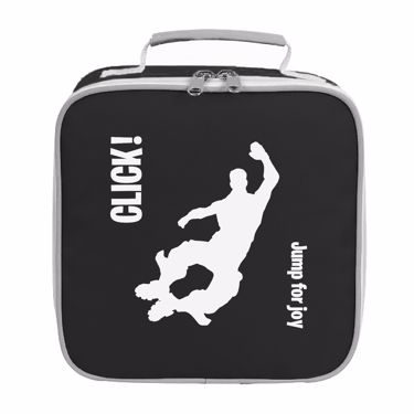 Picture of Click Jump For Joy Emote Shop Item Silhouette Fortnite Battle Royale Lunch Bag