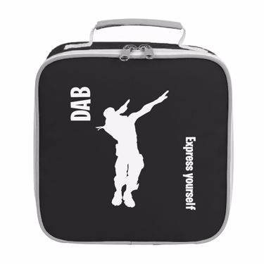 Picture of Dab Express Yourself On The Battlefield Emote Shop Item Silhouette Fortnite Battle Royale Lunch Bag