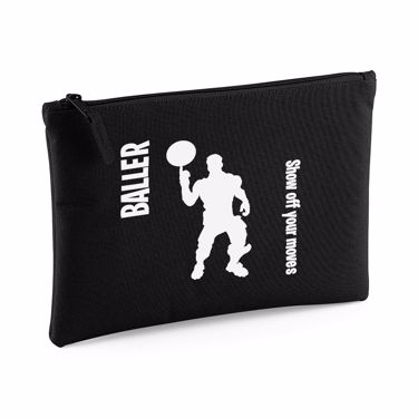 Picture of Baller Show Off Your Moves Emote Large Flat Pencil Case