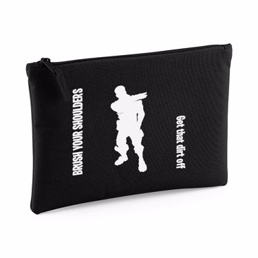Picture of Brush Your Shoulders Get That Dirt Off Emote Large Flat Pencil Case