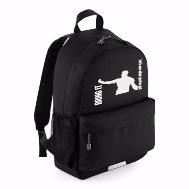Picture of Bring It Lets See What Youve Got Emote School Backpack