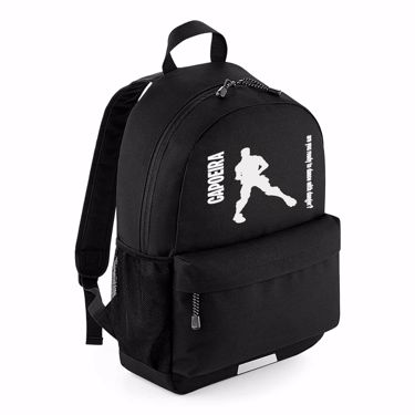Picture of Capoeira Are You Ready To Dance With Danger Emote School Backpack