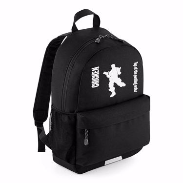 Picture of Chicken Top Of The Pecking Order Emote School Backpack