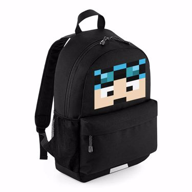 Picture of Dantdm Dan The Diamond Minecart Blue Hair Player Skin Face School Backpack