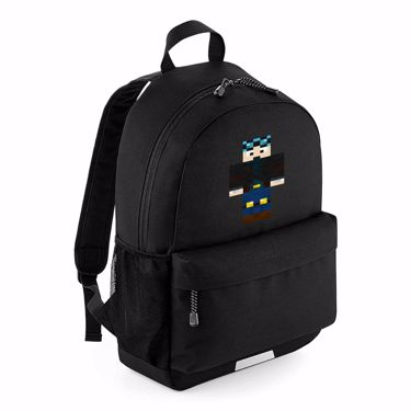 Picture of Dantdm Dan The Diamond Minecart Blue Hair Player Skin Standing Pose School Backpack