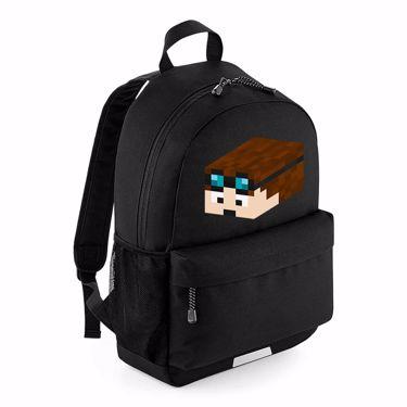 Picture of Dantdm Dan The Diamond Minecart Player Skin 3D Head Left Pose School Backpack