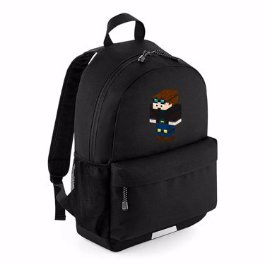 Picture of Dantdm Dan The Diamond Minecart Player Skin 3D Standing Left Pose School Backpack