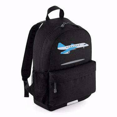 Picture of Emoji Airplane Arriving School Backpack