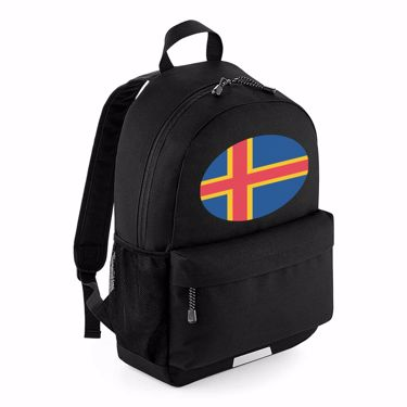 Picture of Emoji Aland Islands Flag School Backpack