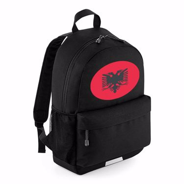 Picture of Emoji Albania Flag School Backpack