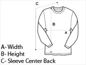 Mens Long Sleeve Sleeve T-Shirt Size Guide