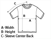 Mens Short Sleeve T-Shirt Size Guide