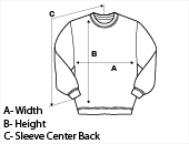 Womens Crew Neck Sweatshirt Size Guide